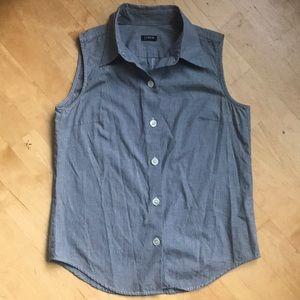 J. Crew classic⚓️gingham sleeveless button top